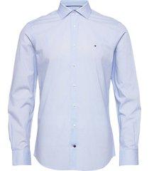 geo prt slim shirt skjorta business blå tommy hilfiger tailored