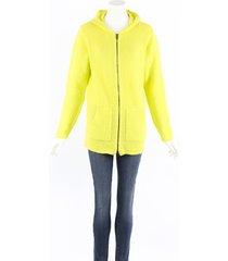 avant toi neon green wool cashmere zipped hoodie sweater green sz: xl