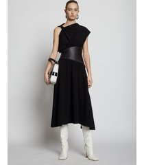 proenza schouler asymmetrical sleeve dress black/black 4