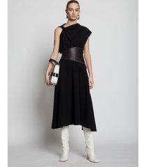 proenza schouler asymmetrical sleeve dress 10250 black/black 2