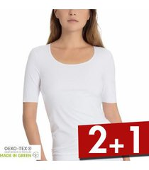 calida natural luxe short sleeved top