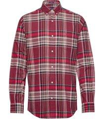d2. brushed oxford reg bd overhemd casual rood gant