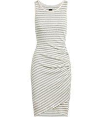 joe's jeans women's rasheeda striped bodycon dress - grey white - size xs