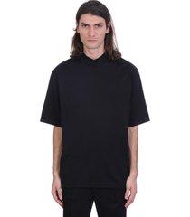 acne studios esco t-shirt in black cotton