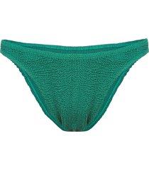 bound ruched bikini bottoms - green