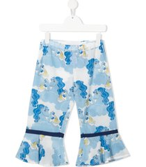 mini rodini unicorn and ramen-print trousers