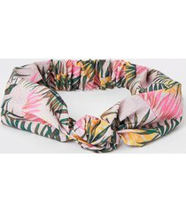 river island womens pink monogram palm print knot headband