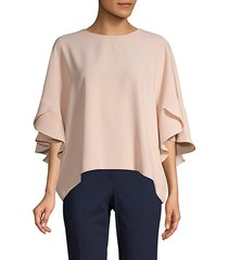 roundneck ruffle top