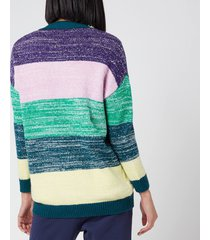 olivia rubin women's mika cardigan - stripe - l