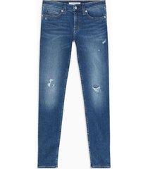 jeans mid rise skinny azul calvin klein