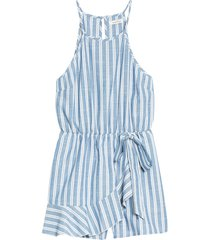women's speechless stripe sleeveless romper