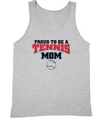 proud to be a tennis mom shirt team mom unisex grey tank top