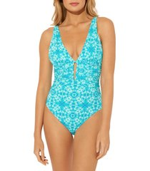 women's bleu by rod beattie make waves mio one-piece swimsuit