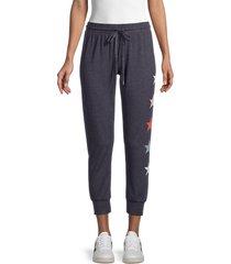 for the republic women's star-print jogging pants - charcoal - size l