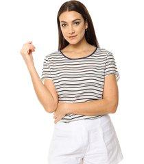 blusa blanca etam rayada
