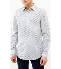 camisa casual estampada perry ellis