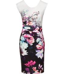 abito senza cuciture a fiori (bianco) - bodyflirt boutique