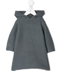 bonpoint hooded knit dress - blue