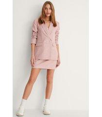 na-kd classic kjol med struktur - pink