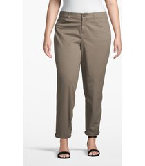 lane bryant women's boyfriend chino 16 falcon