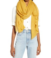 women's treasure & bond herringbone burlap scarf, size one size - yellow