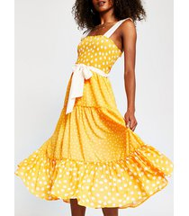 river island womens orange spot midi beach dress