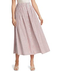 by any other name women's shirred a-line tea skirt - pink - size 2