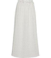 biscotti print split hem maxi aftersun skirt
