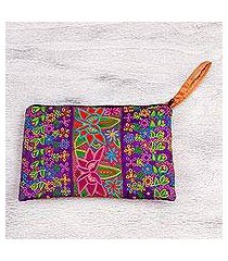 silk wristlet, 'flower kaleidoscope' (mexico)