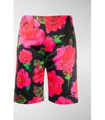 richard quinn floral print bermuda shorts