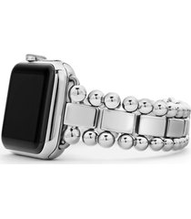 women's lagos smart caviar stainless steel link band for apple watch