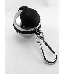 portacenicero, llavero en acero personal, discreto esfera-plateado y negro