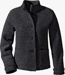 korte walkstof jas met bio-katoen, zwart 34