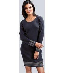 jurk alba moda marine::grijs