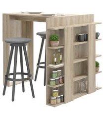 mesa com painel multiuso para banquetas smart be mobiliário
