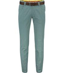 meyer dubai pantalon groen katoen met riem