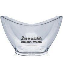 champanheira personalizada drink wine - incolor - dafiti