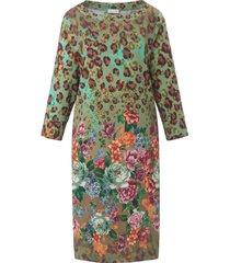 jurk met 3/4-mouwen en boothals van portray berlin multicolour