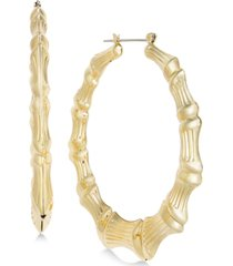 thalia sodi bamboo-look extra large large hoop earrings, created for macy's