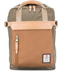 as2ov contrast panel backpack - brown