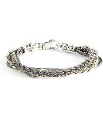 multi chain braided bracelet