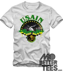 usain bolt t-shirt 2016 olympic games 3 times gold medalist jamaica