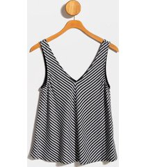 denton striped tank top - charcoal