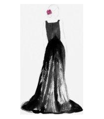 "alicia ludwig black dress i canvas art - 36.5"" x 48"""