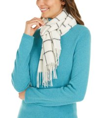 charter club windowpane woven cashmere scarf, created for macy's