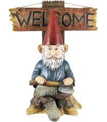 """""""go away"""" garden gnome un-welcome garden statue"""