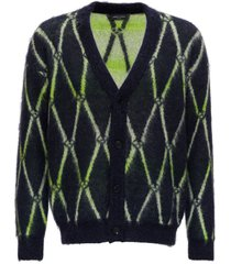 roberto collina diamond pattern cardigan