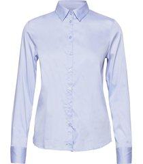 martina sustainable shirt långärmad skjorta blå mos mosh