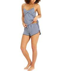 inc striped cami & shorts pajama set, created for macy's