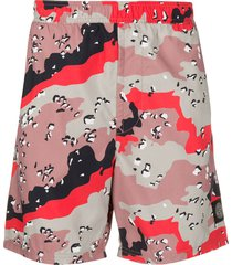 stone island abstract print swim shorts - pink